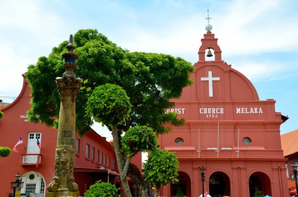 christ-church-malacca-malaisie-600x397