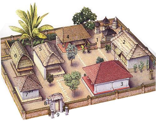 Bali-maison-balinaise-plan