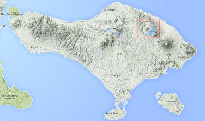 Carte-Mont-Batur