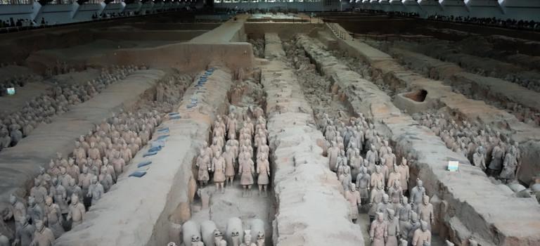 Xi'an: des soldats et… des criquets!